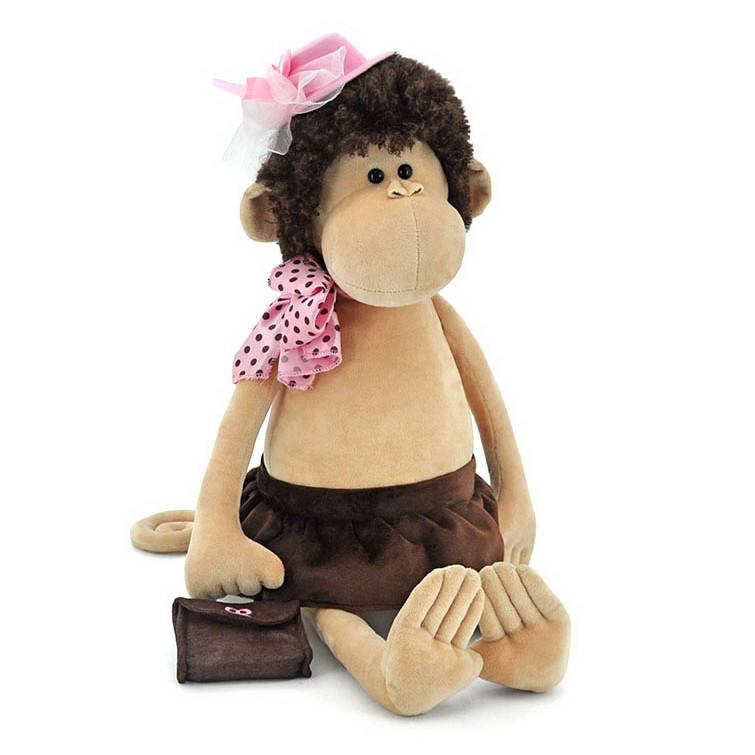 Мягкая игрушка «Orange» (5012/35SK) обезьянка Лизонька в шляпке с сумочкой, 55 см