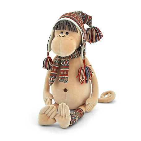 Мягкая игрушка «Orange» (5001/25) обезьянка Ирма в альпийской шапке, шарфе и гетрах, 40 см, фото 2