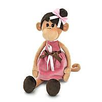 Мягкая игрушка «Orange» (OS105/23) обезьянка Мила в платье с причёской, 37 см