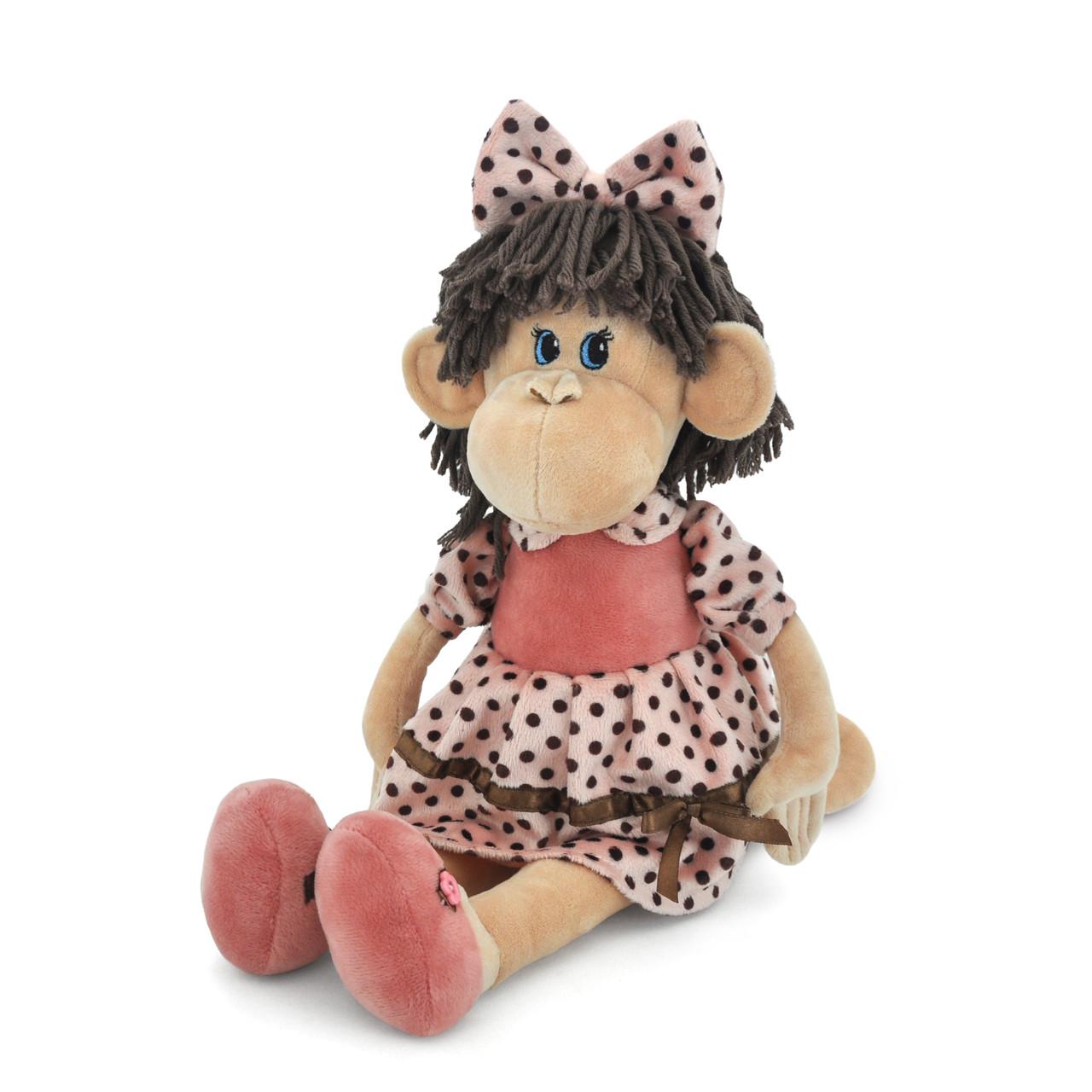 Мягкая игрушка «Orange» (5008/25) обезьянка Ляля в платье в горошек и туфлях, 45 см
