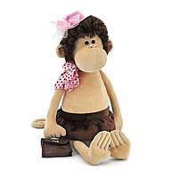 Мягкая игрушка «Orange» (5012/25) обезьянка Лизонька в шляпке с сумочкой, 40 см