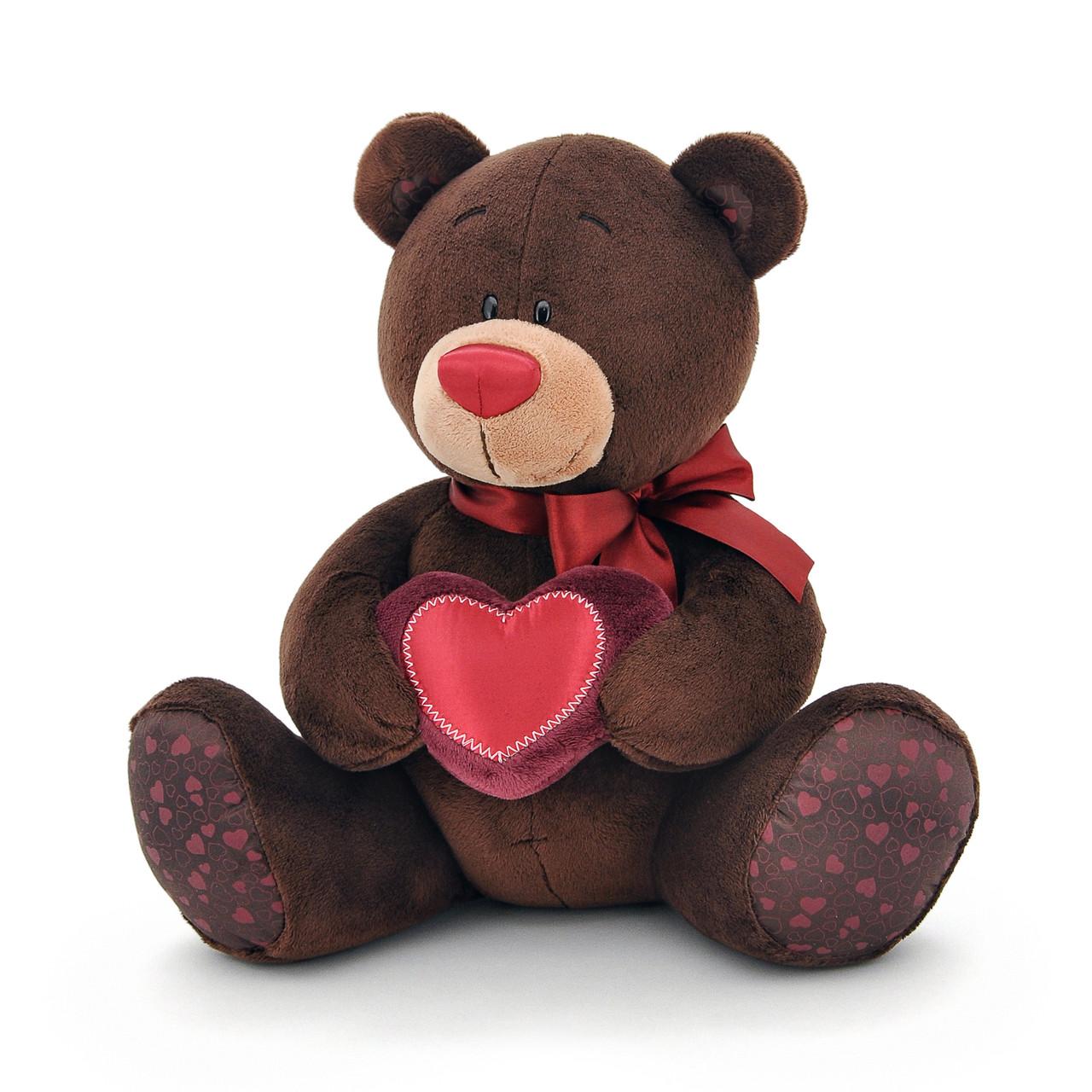 Мягкая игрушка «Orange» (C003/25) медвежонок Choco  с сердечком сидячий, 25 см