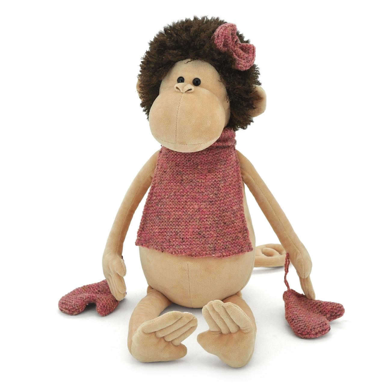 Мягкая игрушка «Orange» (5004/25) обезьянка Жози с манишкой в перчатках, 40 см