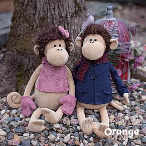 Мягкая игрушка «Orange» (5004/25) обезьянка Жози с манишкой в перчатках, 40 см, фото 2