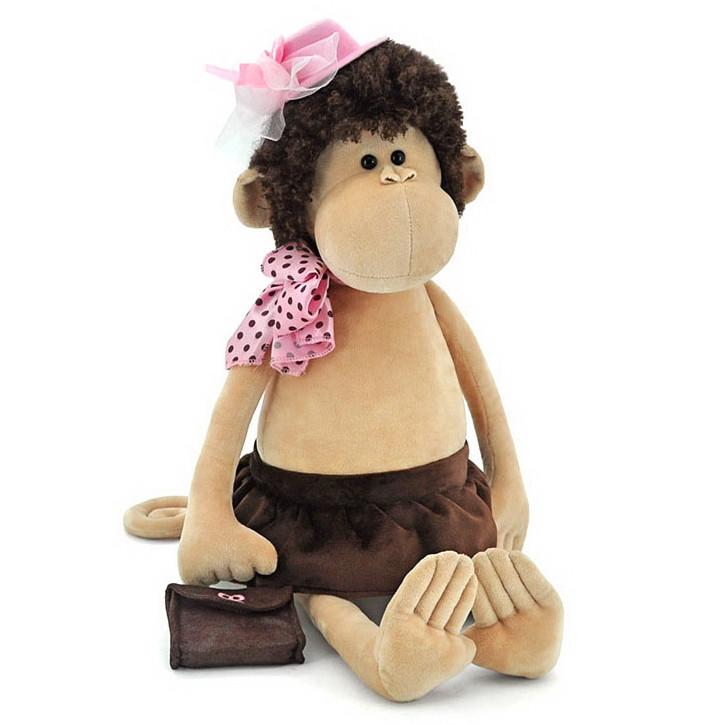 Мягкая игрушка «Orange» (5012/45SK) обезьянка Лизонька в шляпке с сумочкой, 75 см