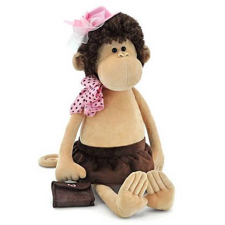 Мягкая игрушка «Orange» (5012/45SK) обезьянка Лизонька в шляпке с сумочкой, 75 см, фото 2
