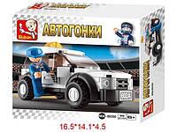 Конструктор Автогонки 96 дет. в коробке 14*4,5*14,1см M38-B0350
