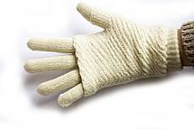 Вязаные перчатки + митенки, фото 2