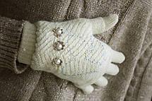 Вязаные перчатки + митенки, фото 3