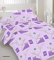 Качественное постельное белье, нежное, сиреневое, оптом, бязь, двуспальное