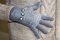 Вязаные перчатки Серые
