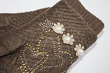 Вязаные перчатки Коричневые, фото 3