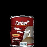"""Эмаль алкидная для пола ПФ-266  TM """"Farbex"""" красно - коричневая - 0,3 кг."""