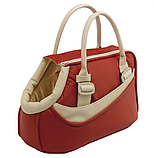 CLASS 10  Сумка коричнева, еко-шкіра/бавовна - сумка-переноска для кошек и собак, фото 3