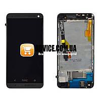 Дисплей HTC One M7 801 с тачскрином в сборе (с держателем сим-карты), цвет черный, в рамке, TEST OK