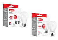 Набор LED ламп MAXUS A60 10W( яркий свет - теплый свет)220V E27 (по 2 шт.)