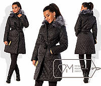 Пальто женское черное ДВ/-06 42, черный