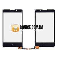 Тачскрин (сенсор) Nokia XL, цвет черный, на 2 sim карты