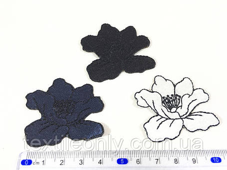 Нашивка мак цвет белый small, фото 2