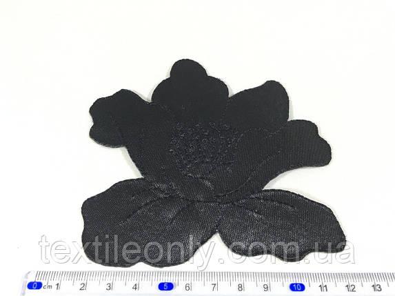Нашивка мак цвет черный big, фото 2
