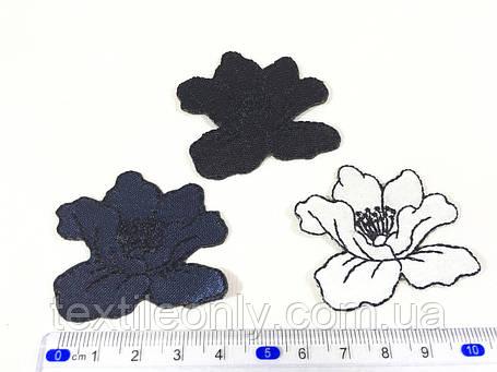 Нашивка мак цвет темно синий  small, фото 2