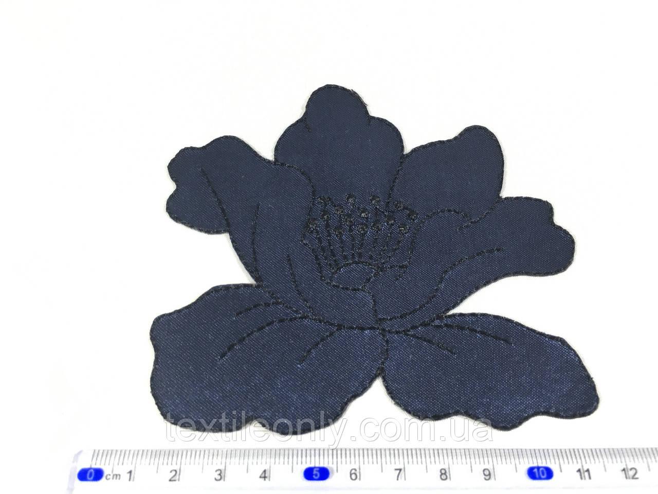 Нашивка мак цвет темно синий big