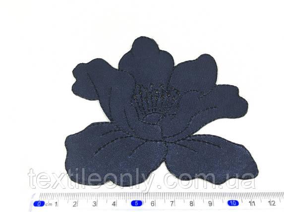 Нашивка мак цвет темно синий big, фото 2