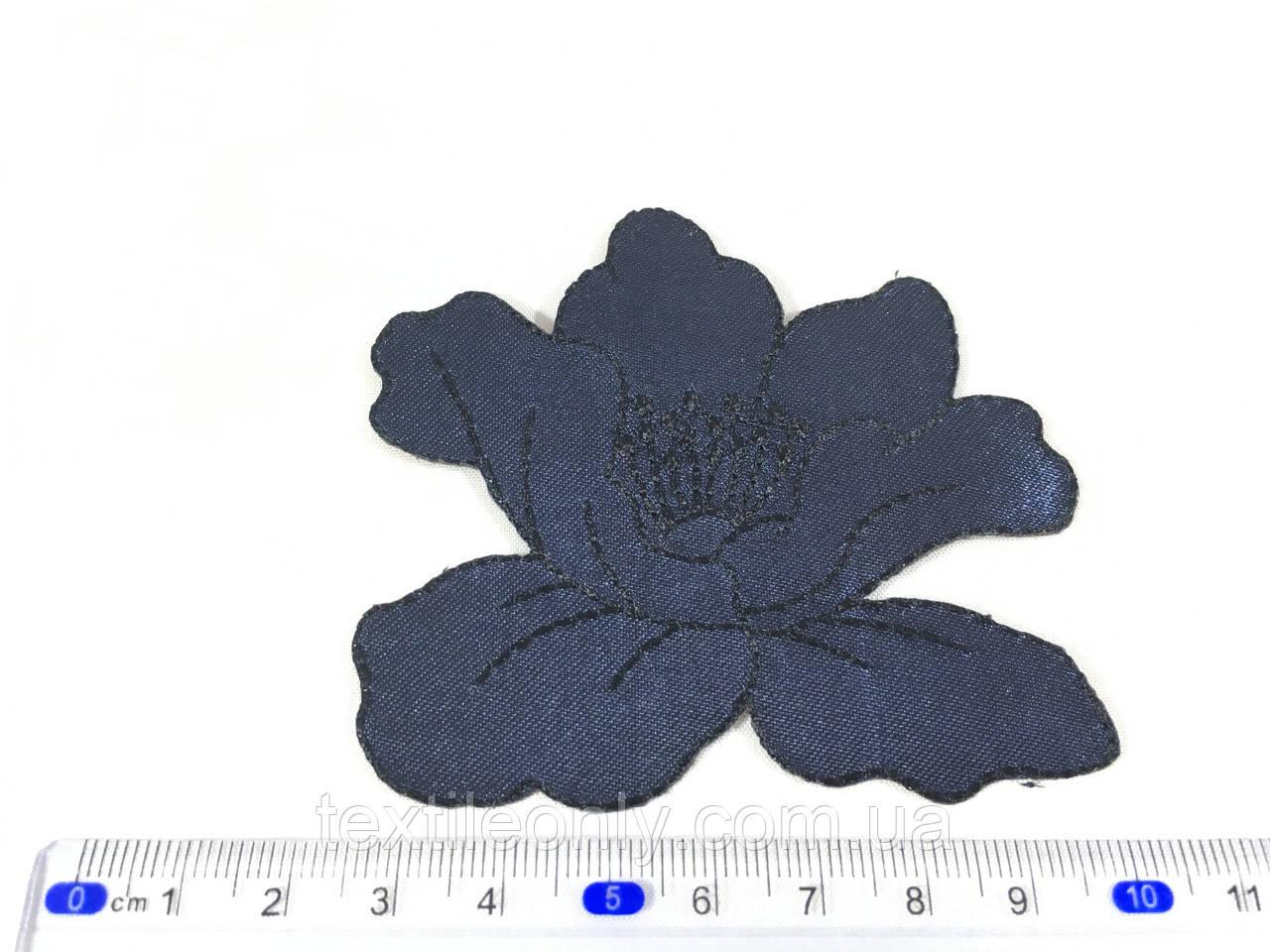 Нашивка мак колір темно синій