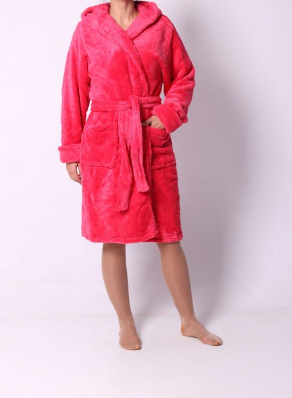 Махровый женский халат на запах
