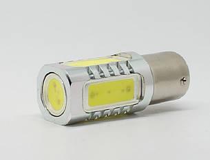 Светодиодная автолампа 1156(P21W)-S25-BA15s HP 7,5W (300Lm) WHITE HP Epistar, одноконтактна