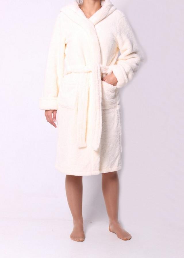 Нежный женский халат с карманами