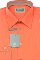 Абрикосовая приталенная рубашка