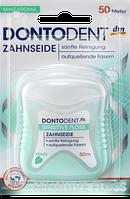 Зубная нить Нежное прикосновение Dontodent Zahnseide Sensitive Floss 50 м
