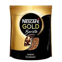 Кофе Нескафе Голд Бариста Стайл сублимированный  с добавлением молотого 60г мягкая упаковка