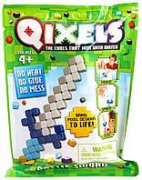 Игровой набор аквамозаики Qixels из пикселей  БОЕВОЙ МЕЧ 50 фишек, спрей, шаблон (87009)