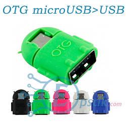 Адаптер, Переходник OTG кабель microUSB в USB