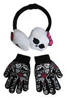 Тёплые наушники и перчатки Монстер хай