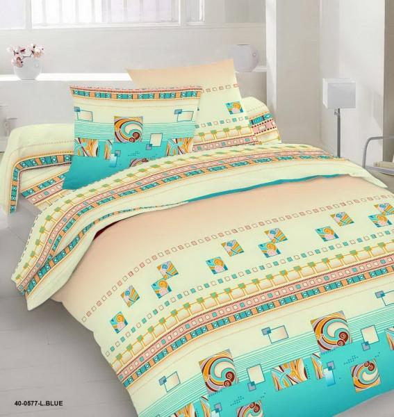 Качественное постельное белье, морской стиль, бирюза, бязь, полуторное