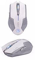 Оригинальная беспроводная игровая мышь Azzor со встроенным аккумулятором белая с серым