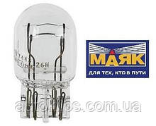 "Лампа 12V W21/5W цоколь-3x16d стоп/габарит, поворот/габарит   "" МАЯК"""