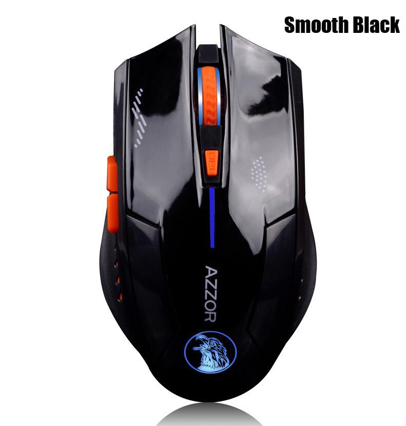Оригинальная беспроводная игровая мышь Azzor со встроенным аккумулятором черная глянцевая