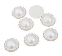 Полубусины жемчужные Цветок 15 мм Белые 10 шт/уп