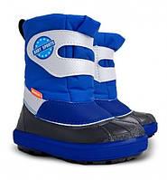 Детские зимние сапоги-дутики Demar (Демар) Baby Sports синие р.20--29 теплющие