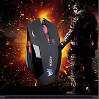 Оригинальная беспроводная игровая лазерная мышь Azzor со встроенным аккумулятором черная матовая