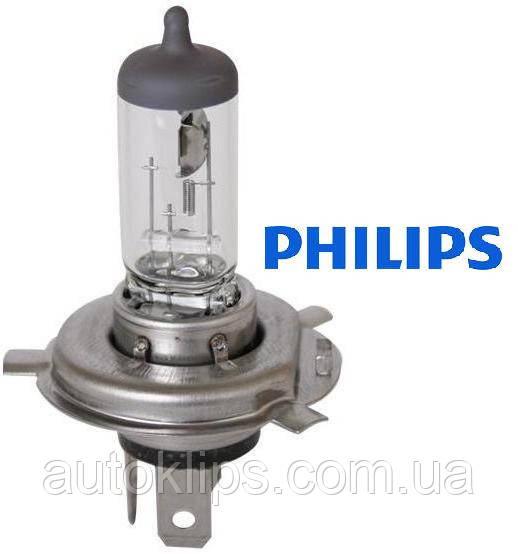 Лампа галогенная 12V H4 P43t 60/55W +30%  PHILIPS