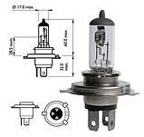 Лампа галогенная 12V H4 P43t 60/55W +30%  PHILIPS, фото 2