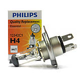 Лампа галогенная 12V H4 P43t 60/55W +30%  PHILIPS, фото 4