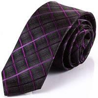 Классический мужской шелковый галстук SCHONAU & HOUCKEN (ШЕНАУ & ХОЙКЕН) FARESHY-16 -серый