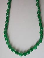 Ожерелье натуральные изумруды, 90.15с, 67 штук, овалы 6-10мм х 5 мм -45 см-Bronze-Индия