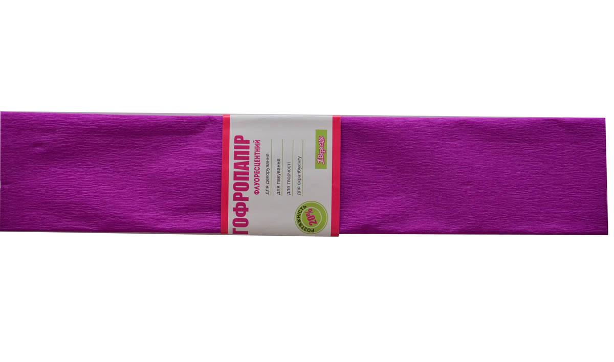 Бумага гофрированная флюоресцентная 20% фиолетовая 1 Вересня